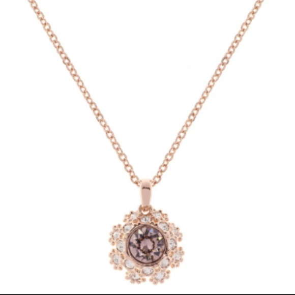 0fd1f628d40d4 Ted Baker London Rose Gold Tone Swarovski Necklace